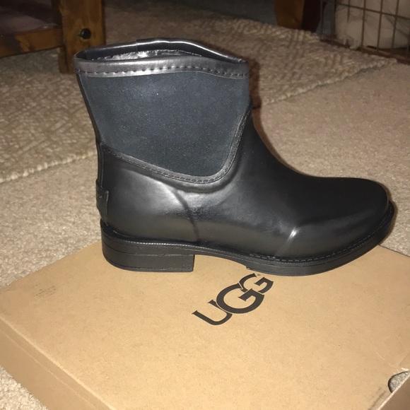 f0360501ddf Ugg Paxton black rain boot NWT
